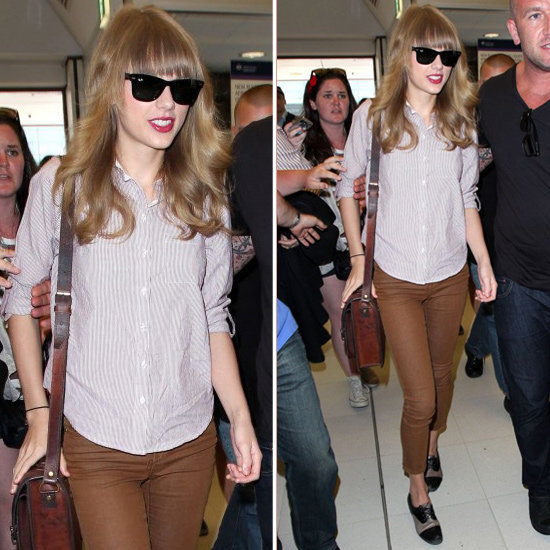 Steal Taylor Swift's preppy-cool airport style.