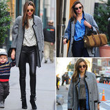 In Love With . . . Miranda Kerr's Gray Tweed Isabel Marant Coat