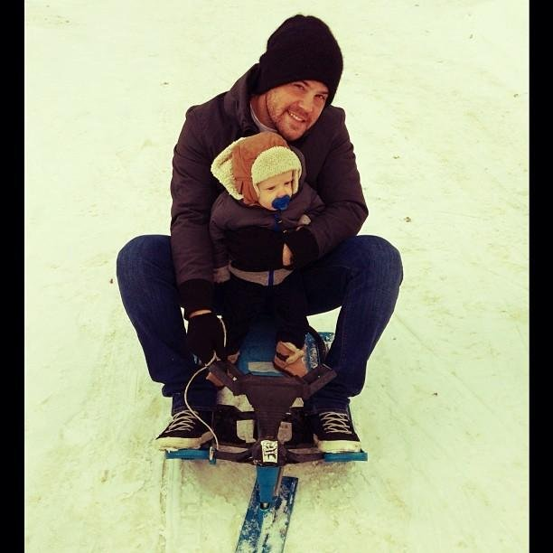 Hilary Duff's boys spent some time enjoying the snow while in Canada. Source: Twitter user HilaryDuff