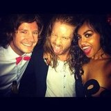Jessica Mauboy met Josh and Michael from Big Brother at the ARIAs. Source: Instagram user mushroom1