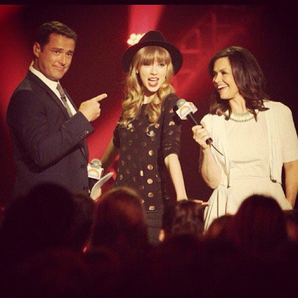 Today also got Taylor to help record a promo with hosts Karl Stefanovic and Lisa Wilkinson. Source: Instagram user taylorswift