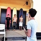 Hayden Quinn surfed and shot with new friends. Source: Instagram user hayden_quinn