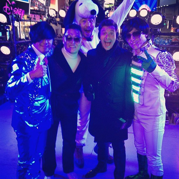 Ryan Seacrest got ready to ring in the New Year with Psy and friends in NYC.  Source: Instagram user ryanseacrest