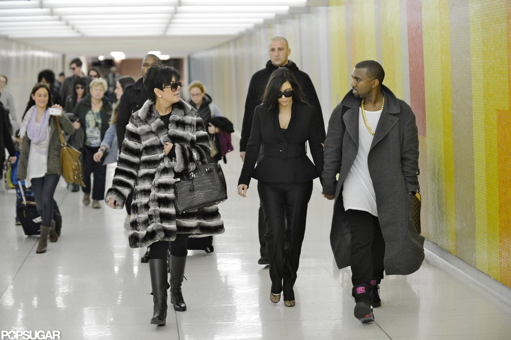 Kim Kardashian and Kanye West landed in LA.