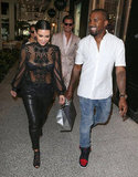 Kim and Kanye went shopping in Miami in October 2012.