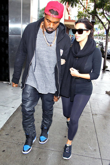 Kim Kardashian and Kanye West headed to an LA nail salon together in December 2012.