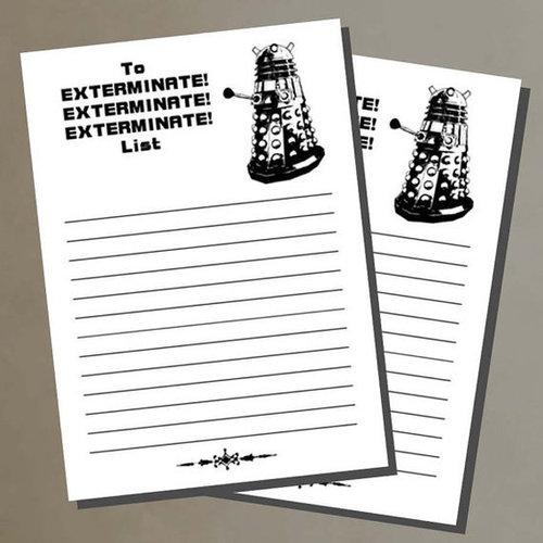 Exterminate To-Do List