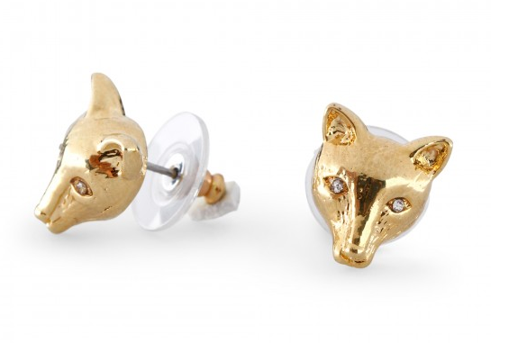 You could go the gold stud route or you could opt for something a little funkier — we're talking the kind of funky embodied by C. Wonder fox crystal-encrusted stud earrings ($38). They're sleek, subtle, and really cute.