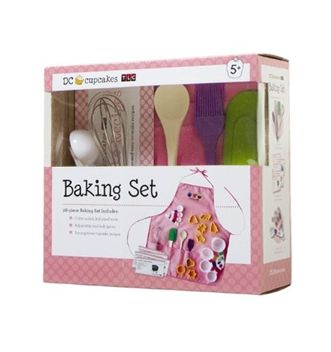 dc cupcakes kids apron baking set lilsugar 39 s must. Black Bedroom Furniture Sets. Home Design Ideas