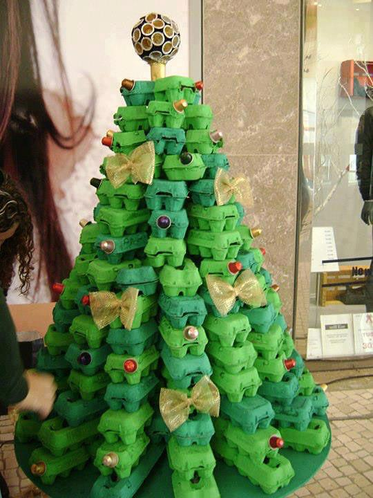 layered carton tree