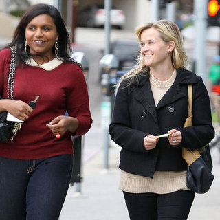 Reese Witherspoon and Mindy Kaling Lunch Pictures