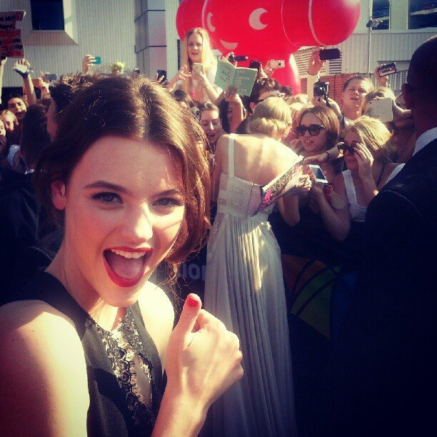 Model Montana Cox was just excited as the fans when she spied Taylor Swift on the ARIAs red carpet. Source: Instagram user montanacox1