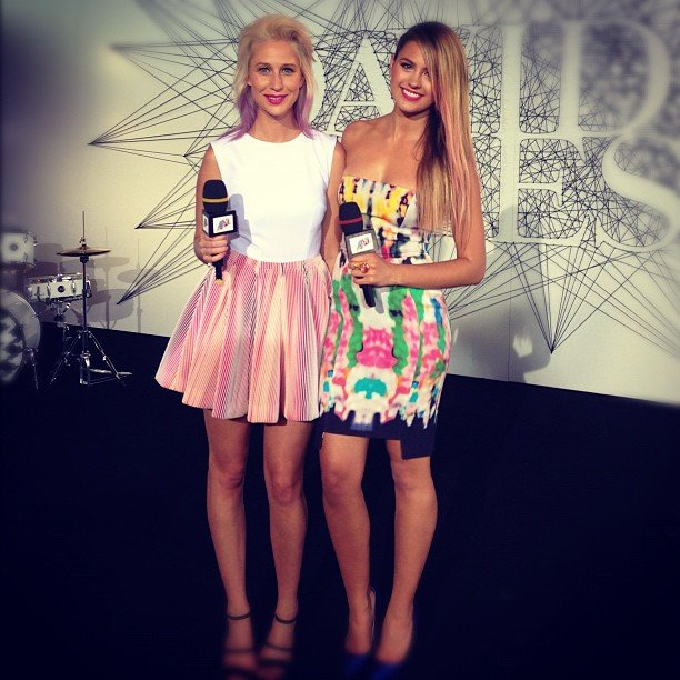 Maude Garrett and Jesinta Campbell looked gorgeous in their Camilla and Marc and Ginger & Smart dresses ahead of the ARIAs. Source: Instagram user jesinta_campbell
