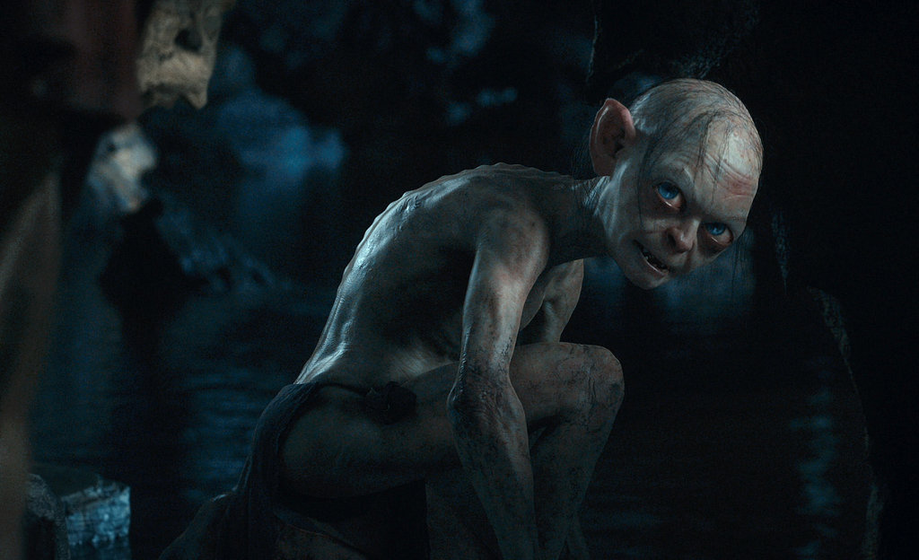 Gollum, performed by Andy Serkis, in The Hobbit: An Unexpected Journey.