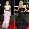 Elle MacPherson Black Dress; Amanda Seyfried Lilac McQueen