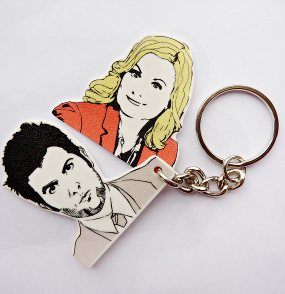 Ben and Leslie Key Chain ($8)