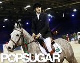 Guillaume Canet competed on his horse.