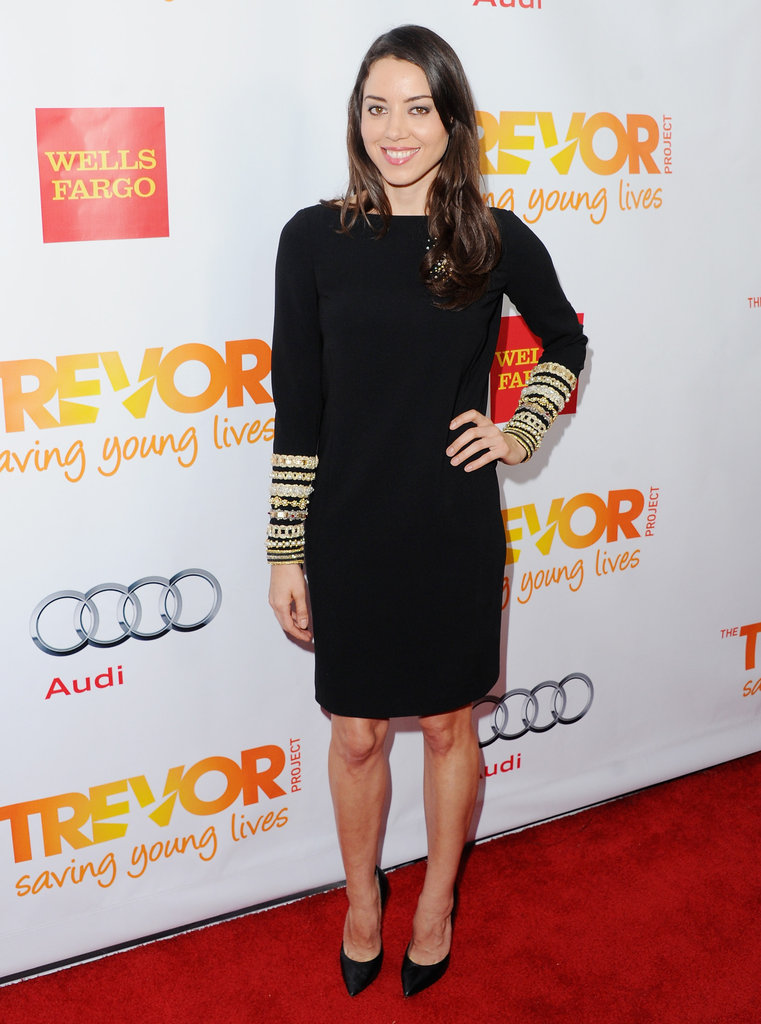 Aubrey Plaza attended the Trevor Live benefit in LA.