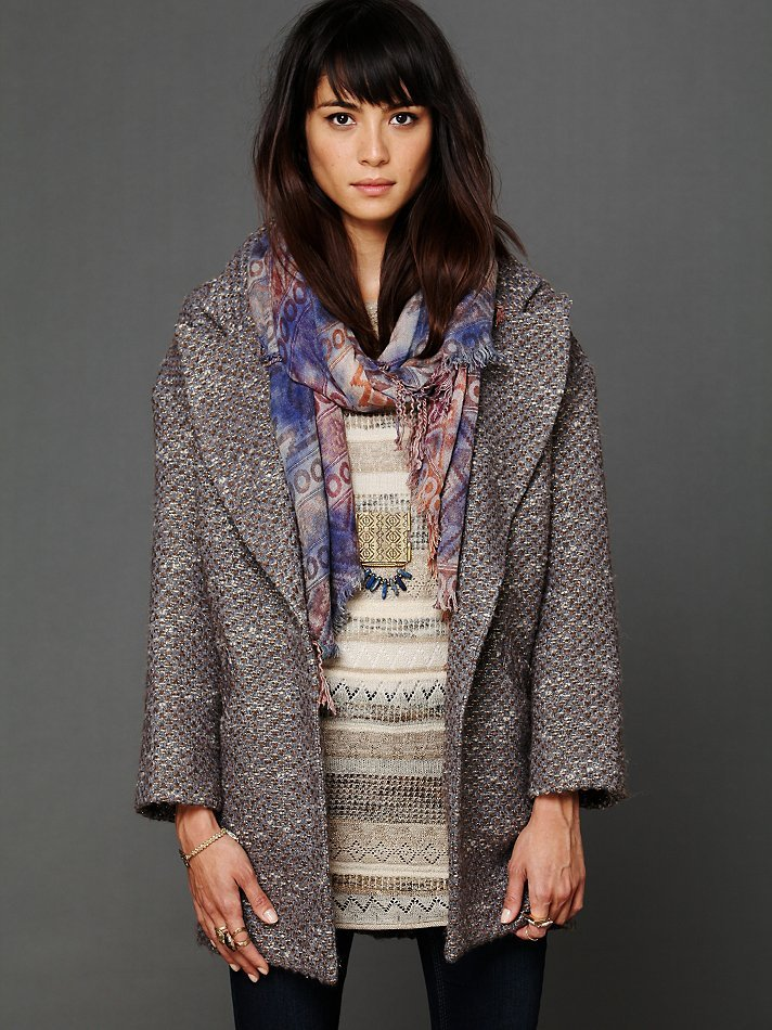We love the bohemian-chic look of this Koch Golden Sun Tweed Coat ($200, originally $698).