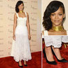 Rihanna in Sheer White Lace Skirt by Nini Nguyen (Pictures)