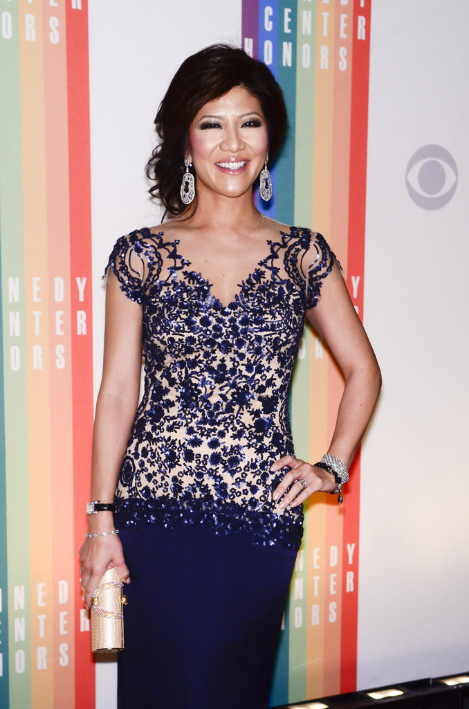 Julie Chen struck a pose on the red carpet.