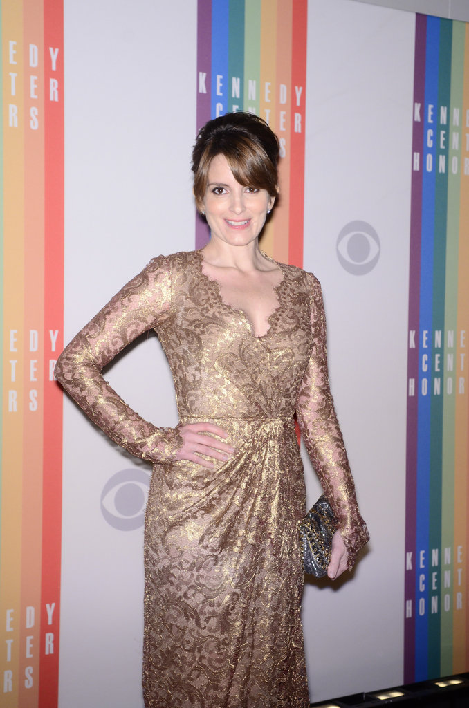 Presenter Tina Fey arrived at the Kennedy Center Honors.