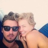 Lara Bingle cuddled up to her boyfriend Gareth Moody during a Mexican getaway in November. Source: Instagram user mslbingle