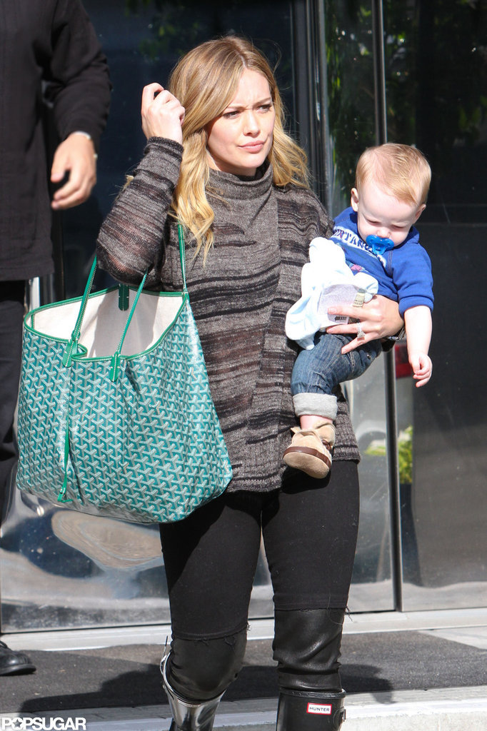 Hilary Duff had Luca on her hip for an LA outing.
