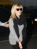 Reese Witherspoon flashed a smile at LAX.
