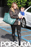 Hilary Duff ran errands with Luca Comrie.