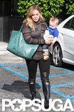 Hilary Duff ran errands with Luca Comrie.