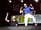 Pitbull and Afrojack took the stage.