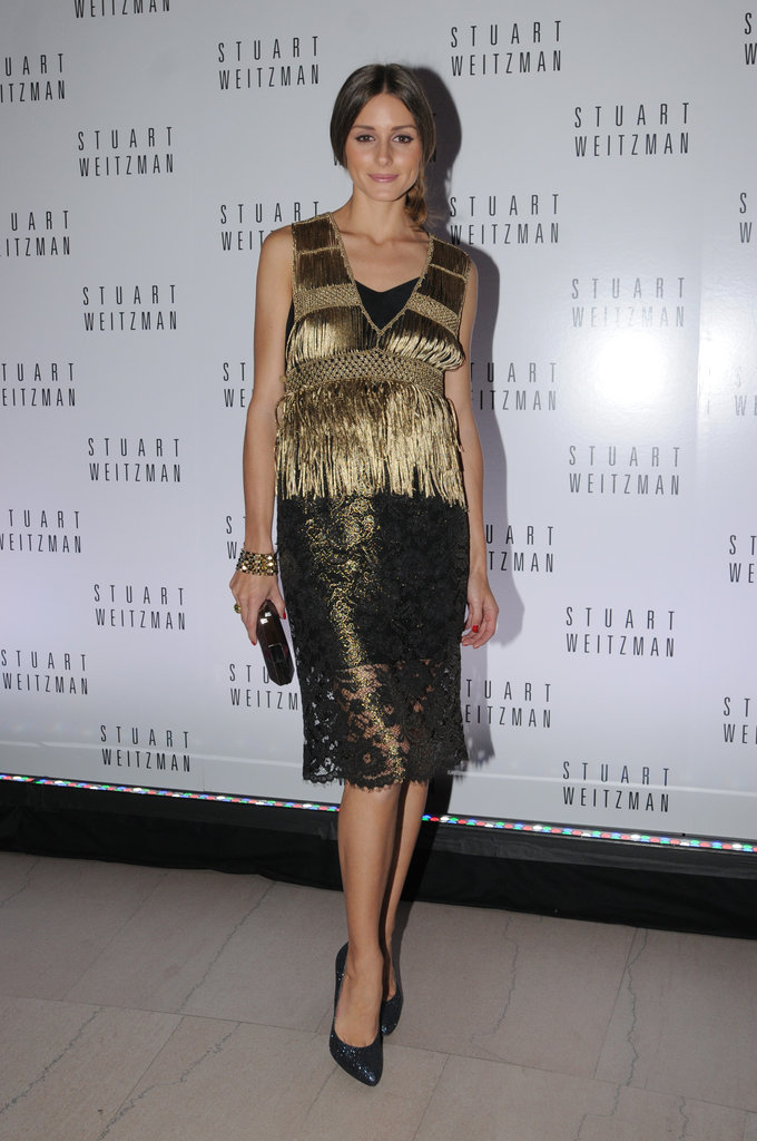 Olivia Palermo's fringed Juicy Couture top and metallic Tibi skirt were made for the holiday season.
