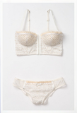Anthropologie's Victoire hipster ($18) and bra ($34) have a romantic feel (at a pretty reasonable price).