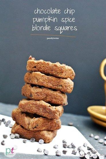 Pumpkin chocolate chip blondie bars (gluten-free,vegan)   POPSUGAR ...