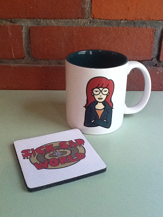 Daria Mug and Coaster ($11)