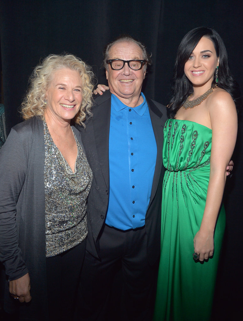 Katy Perry posed with Carole King and Jack Nicholson in LA.
