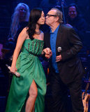 Katy Perry got a kiss on the cheek form Jack Nicholson after her tribute performance to Carole King.