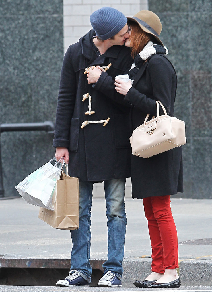 In January, Andrew Garfield and girlfriend Emma Stone showed off some sweet PDA during a walk in NYC.