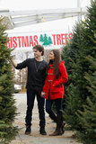 Ian Somerhalder and Nina Dobrev shopped for a Christmas tree in Atlanta.