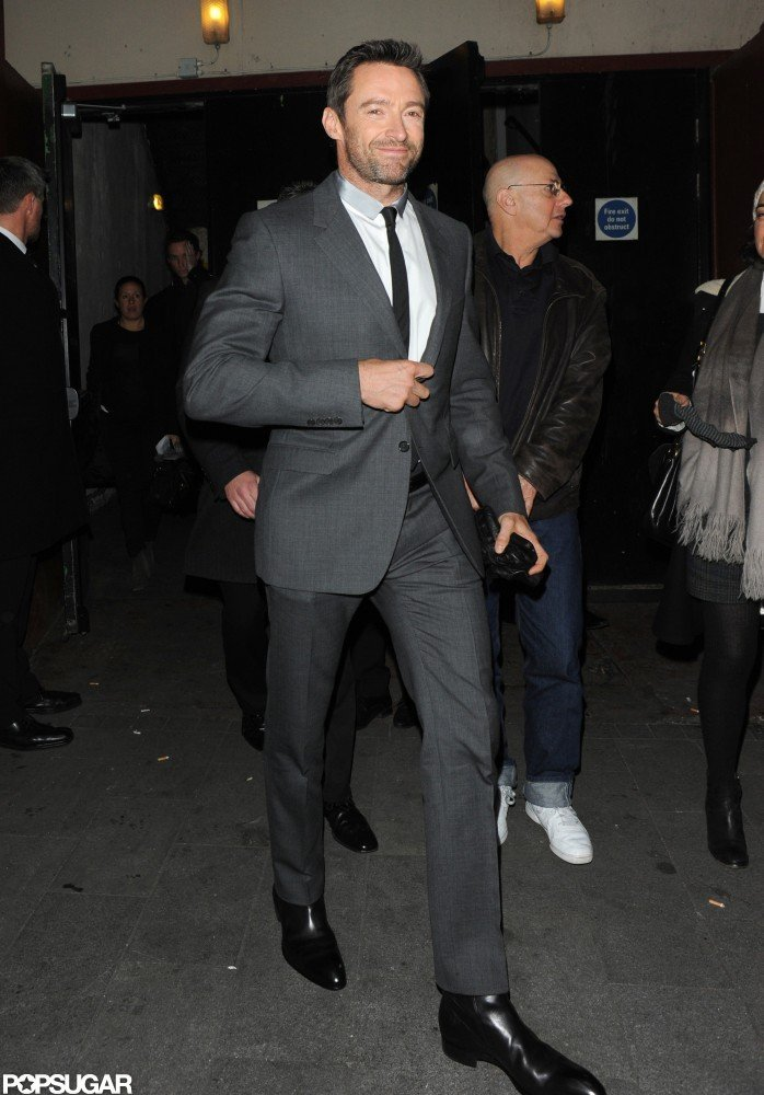 Hugh Jackman looked dapper as he arrived.