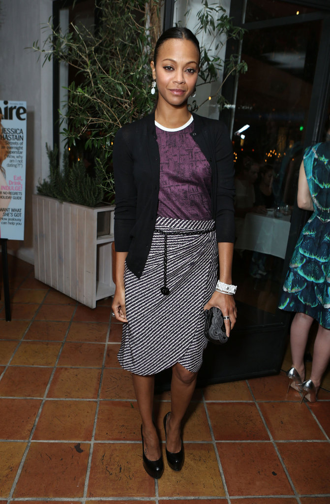 Zoe Saldana was out in LA.