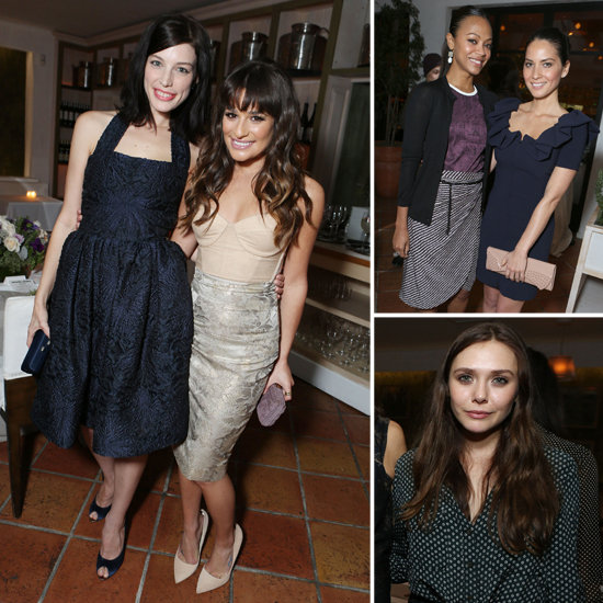 Elizabeth Olsen and Zoe Saldana Do Dinner With a Group of Happy Starlets