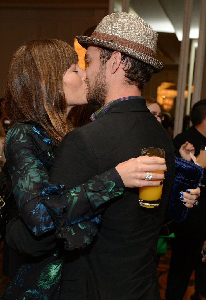 Jessica Biel planted a kiss on Justin Timberlake at Variety's annual Power of Women event in LA in October.