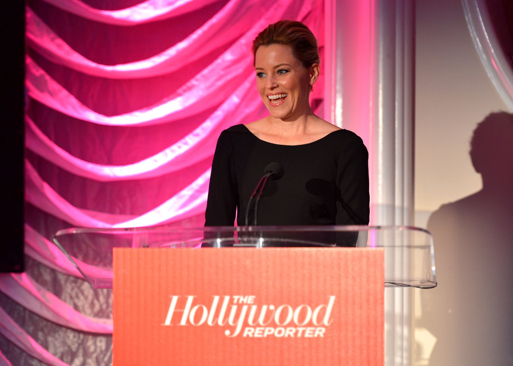 Elizabeth Banks spoke on stage at The Hollywood Reporter's Power 100: Women in Entertainment breakfast in LA.