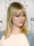 Emma Stone attended Revlon's new makeup launch in NYC.