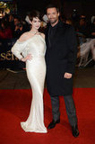 One last shot of Anne and her Les Misérables costar Hugh Jackman on the red carpet.