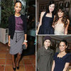 Zoe Saldana and Lea Michele at Marie Claire Dinner 2012