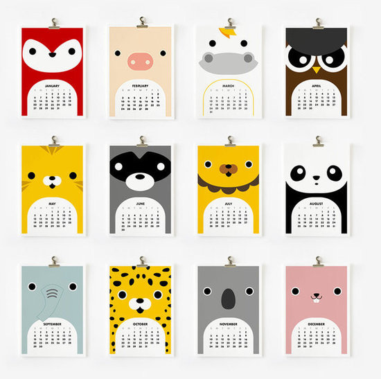 Loopz Cute Animal Calendar