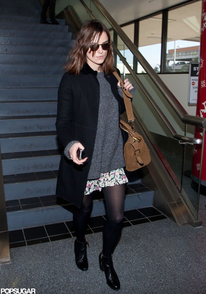 Keira Knightley landed at LAX.